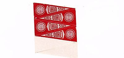 "1960 THE OHIO STATE UNIVERSITY 2 "" PENNANT DECAL--DK RED"
