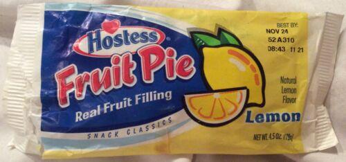Vintage Hostess fruit pie paper wrapper (Lemon)