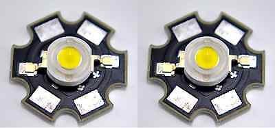 2 Pcs New 1w Warm White High Power Led Lamp With 20mm Star Pcb 1 Watt Us Seller