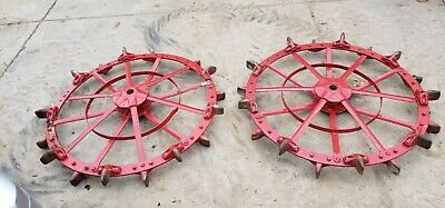 Oliver 60 Tractor Rear Steel Wheels Tipy Toe Steel Wheel Set Rare Free Shipping