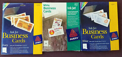 1200 Avery 8471 8376 8571 Business Cards  Ink Jet 3 Packages