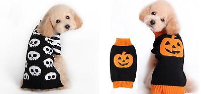 Knitted Haloween Dog Jumper Pet Clothes Sweater For Small To Medium Dogs Puppies - Haloween Clothes