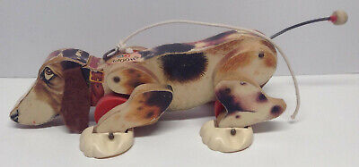 Vintage 1961 Fisher Price Snoopy Pull Dog Toy