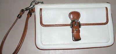COACH Leather Skinny Wristlet Clutch Handbag Purse 7.5