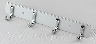 Wall Hanger Aluminium  plate With 4 Silver Chrome Plated Hooks ()