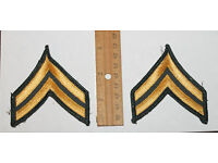 Pair CORPORAL CPL Police Security Chevrons Stripes Patch Gray And Black