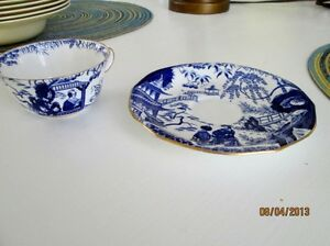 Royal Crown Derby Cup and Saucer - Blue Mikado Kitchener / Waterloo Kitchener Area image 3