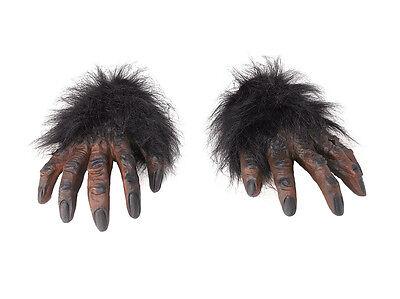 Braun Behaarte Hände Gorilla Affe Kostüm # Schimpansen Halloween Horror Zubehör