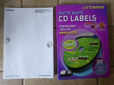 Avery Cd Labels Cd Stomper Cddvd Labels Matte White 300 40 Pack 680 Labels