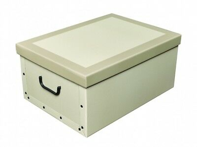 Dekokarton Dekobox mit Deckel Geschenkkarton creme beige 37x51x24 cm