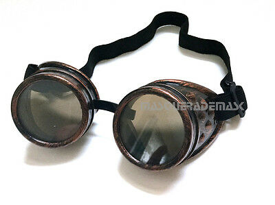 Victorian Steampunk mad max goggles Glasses Party Halloween Costume Dress up Fun](Fun Halloween Party)