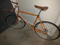 Single speed bike orange colour (2nd hand Kennedy city bicycle)