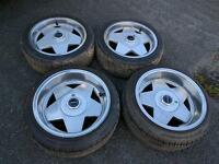"Borbet Alloy Wheels Staggered 16"" 4 x 100 Mk1 Mk2 Golf BMW E30"