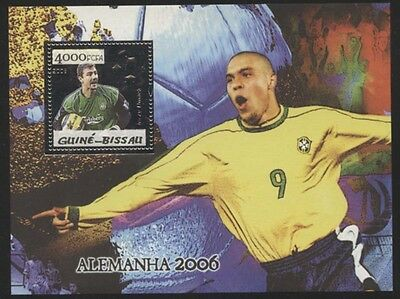 Guinea Bissau 2006 Germany Soccer Players Silver Foil S/S set NH