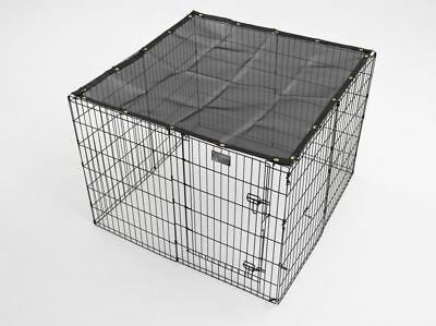 Sunscreen Top For Outdoor Dog Exercise Pen Sunblock Shade Tarp Cage Cover 4x4  Dog Pens For Outside