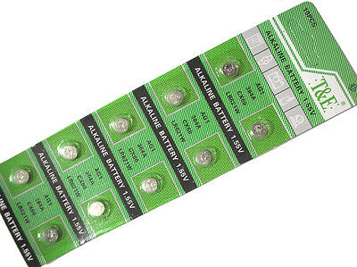 10pcs AG1 364 LR621 531 SR60 1.5V Alkaline Button Cell Watch Battery
