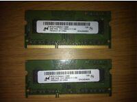 4 GB (2x2 GB) DDR3 Laptop memory RAM