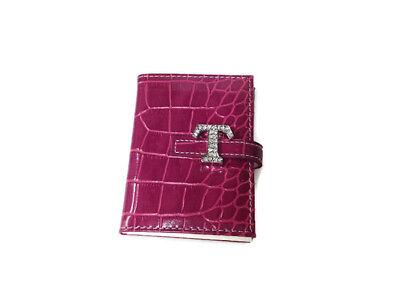 Russ Berrie - Pocket Size Notebook - Pink - Rhinestone Monogrammed