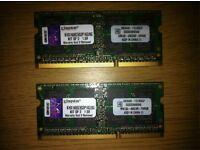 8 GB (2x4 GB) DDR3 Laptop memory RAM