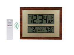 ️Better Homes & Gardens Atomic Clock w/ Weather, Temperature & Alarm Time/Date