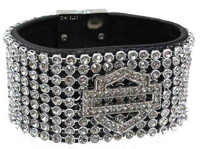 Harley-Davidson Women's Bar & Shield 7-Inch Wrist Cuff HDWCU10111-XS/S