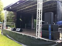 Professional PA Sound & Light Hire For Your Event, from Rewind Events.