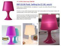 3x IKEA Table lamp LAMPAN