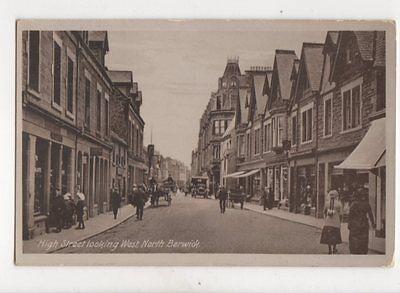 High Street Looking West North Berwick 1918 Postcard 132b
