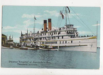 Steamer Kingston At Alexandria Bay Thousand Islands USA Vintage Postcard 115b