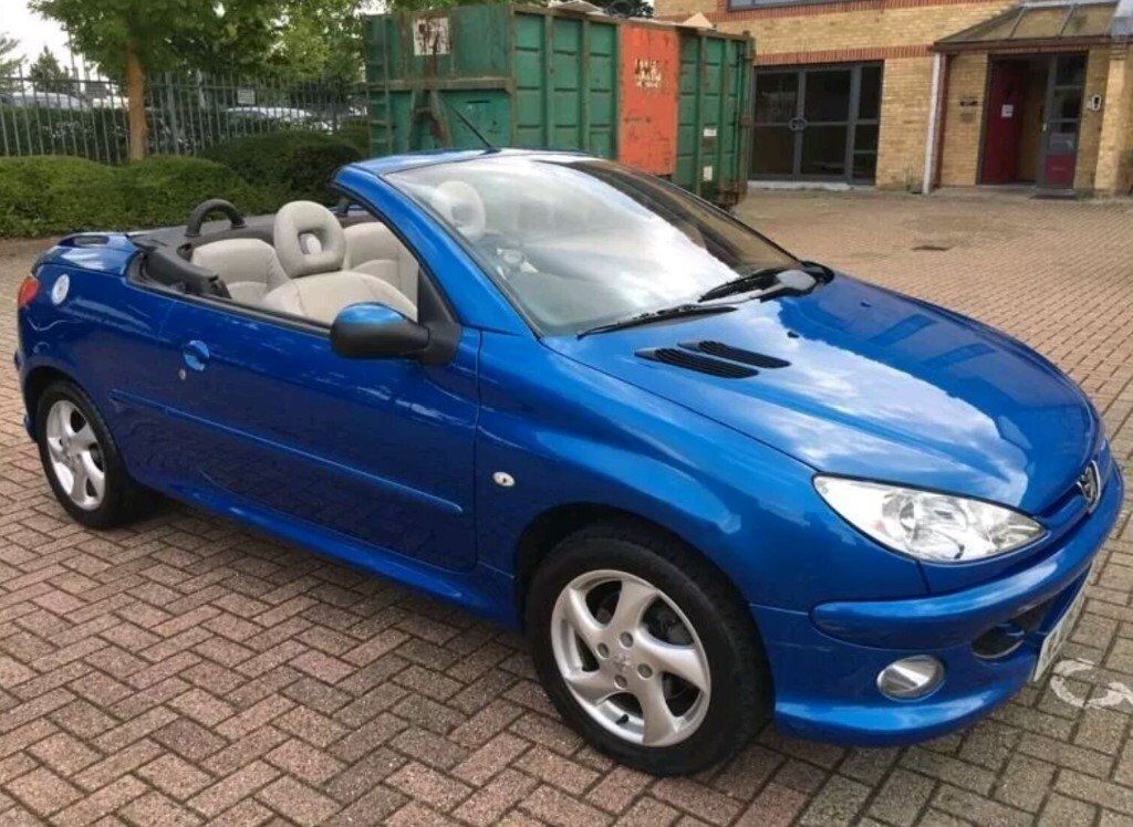 2005 peugeot 206cc allure metallic blue cream leather convertible coupe. Black Bedroom Furniture Sets. Home Design Ideas