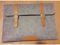 "15""Grey Felt Laptop Case - New"