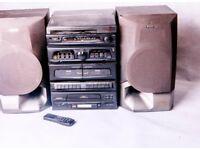 BARGAIN!! HI-FI ALBA with vinyl record player + remote control. Sony speakers