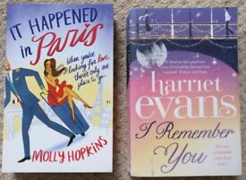 2 books, chicklit, Molly Hopkins, Harriet Evans, set in Paris, London and Rome, good condition!