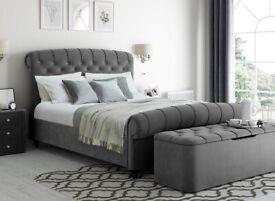 Dreams Ellis Velvet Finish Upholstered Bed