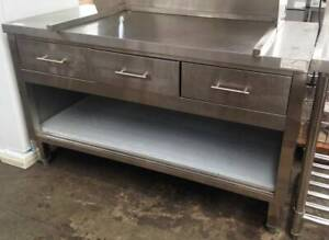 Commercial S/S 3 Drawer Bench 1500mm Catering Restaurant Cafe