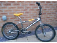 """Old School BMX Fizzer Concept Chromed Plated 11"""" Frame, Fitted with Stunt Pegs, in V.G.C"""