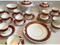 Early 20th Century Tea Set - Deep Red And Gilt Decoration