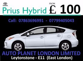Rent a CAR - PCO Hire HYBRID vehicles Toyota Prius UBER READY from £100 only LOW Deposit