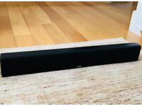 Canton DM 9 Flat Wall Mounted TV Soundbar Black – In EXCELLENT working condition