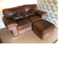 3 Seat Sofa, 2 Seat Sofa & Foot Stool Storage Unit
