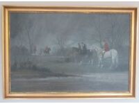 Hunting Scene In The rain by B.M.Conway