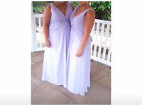 X3 Designer Ronald Joyce Lilac Bridesmaid Dresses