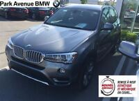 2015 BMW X3 PREMIUM ENHANCED w NAVIGATION/ REAL LEATHER