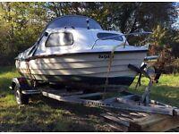 Bonwitco 449 Boat Yamaha outboard and trailer