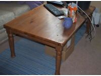 Large sturdy pine table - good renovation project