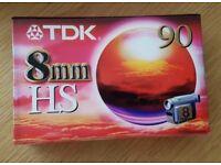 TDK HS 90 8mm Tape P5-90HSEN PAL/SECAM