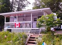 Prime waterfront trailer in family campground ,1 hr. from OTTAWA