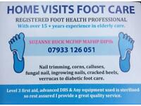 Registered foot care in the comfort of your home