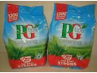 Pg Tips tea bags x 1200. Two cup.