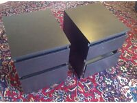 Two matching bedside tables